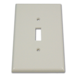 Picture of JUMBO SINGLE GANG SWITCH PLATE - WHITE