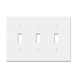 Picture of MIDI 3-GANG SWITCH WALL PLATE - WHITE
