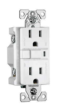Picture of LEVITON GFCI 15AMP RECEPTACLE - WHITE
