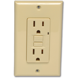 Picture of GFCI 20AMP RECEPTACLE - IVORY