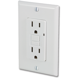 Picture of GFCI 20AMP SELF TEST RECEPTACLE - WHITE