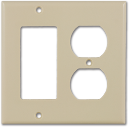 Picture of STANDARD 2-GANG DUPLEX/DECORA WALL PLATE - IVORY