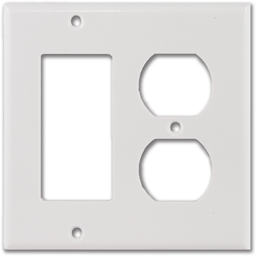 Picture of STANDARD 2-GANG DUPLEX/DECORA WALL PLATE - WHITE