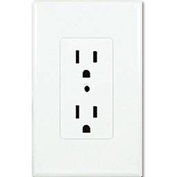 Picture of TAYMAC DECORA COVER DUPLEX RECEPTACLE PLATE  - WHITE
