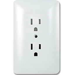 Picture of TAYMAC MASQUE DUPLEX RECEPTACLE PLATE - WHITE