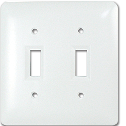 Picture of TAYMAC MASQUE 2-GANG TOGGLE SWITCH PLATE  - WHITE