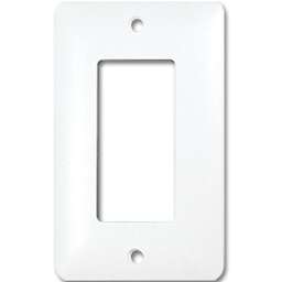 Picture of TAYMAC MASQUE SINGLE GANG DECORA WALL PLATE  - WHITE