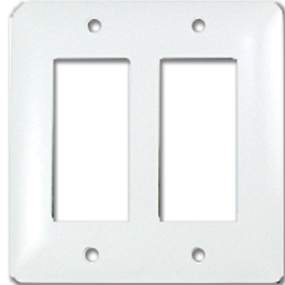 Picture of TAYMAC MASQUE 2-GANG DECORA WALL PLATE  - WHITE