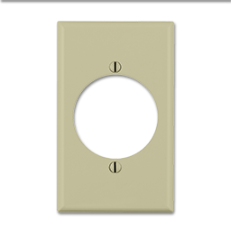 Picture of MIDI 30AMP A/C RECEPTACLE PLATE - IVORY