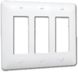 Picture of TAYMAC MASQUE 3-GANG DECORA WALL PLATE - WHITE