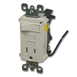 Picture of COMBINATION 15AMP SELF TEST GFCI RECEPTACLE - WHITE