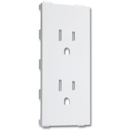 Picture of ALLURE™ DUPLEX RECEPTACLE INSERT - WHITE