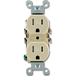 Picture of DUPLEX/RECEPTACLE TAMPER RESISTANT - IVORY