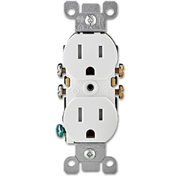 Picture of DUPLEX/RECEPTACLE-TAMPER RESISTANT-WHITE