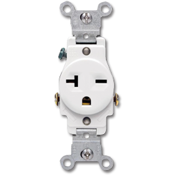 Picture of 20AMP A/C SINGLE RECEPTACLE - WHITE