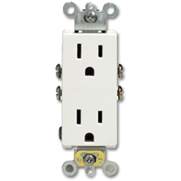 Picture of 15A 125V DECORA RECEPTACLE - WHITE