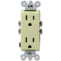 Picture of 15AMP 125V DECORA RECEPTACLE - IVORY