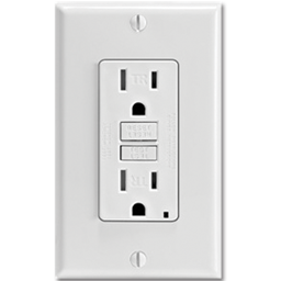 Picture of 15AMP SELF TEST TAMPER PROOF GFCI RECEPTACLE - WHITE