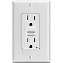 Picture of 20AMP SELF TEST TAMPER PROOF GFCI RECEPTACLE - WHITE