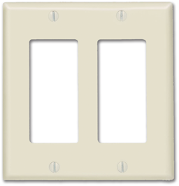 Picture of STANDARD 2-GANG DECORA SWITCH PLATE - IVORY