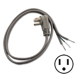 Picture of 3 FT PIGTAIL POWER CORD - ANGLED PLUG