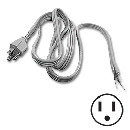 Picture of 6 FT PIGTAIL POWER CORD - STRAIGHT PLUG
