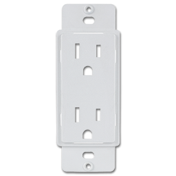 Picture of DESIGNER COVER UP 1-GANG DUPLEX ADAPTER -20/PK - WHITE