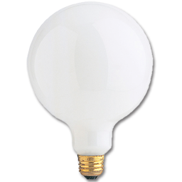 "Picture of 40 WATT G40 WHITE 5"" GLOBE BULB"