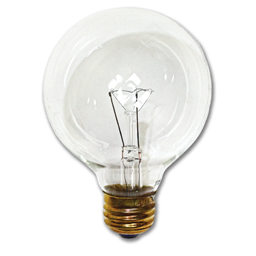 "Picture of 60 WATT CLEAR G40 5"" GLOBE BULB"