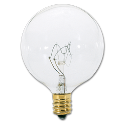Picture of 25 WATT CLEAR G16-1/2 VANITY BULB - 25/CS