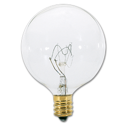 Picture of 40 WATT CLEAR G16-1/2 VANITY BULB - 25/CS