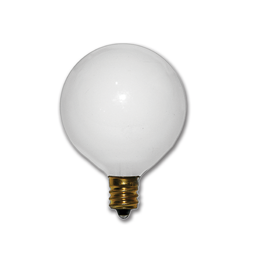 Picture of 40 WATT WHITE G16-1/2 VANITY BULB - 25/CS