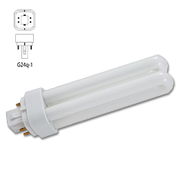 Picture of 26 WATT DOUBLE TUBE 4 PIN COMPACT FLUORESCENT BULB - G24Q-3 BASE - WARM WHITE