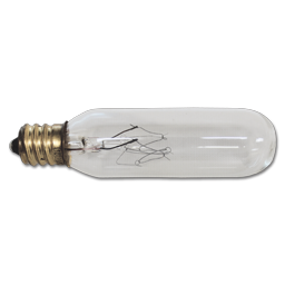 25W CLEAR T6 EXIT SIGN BULB CANDELABRA BASE