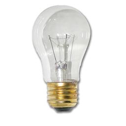 Picture of 15 WATT CLEAR A15 APPLIANCE BULB - 12/PK