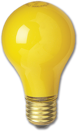 Picture of WSL-60 WATT YELLOW A19 BUG LITEBULB - 24/CS