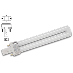 Picture of 5 WATT SINGLE TUBE 2 PIN COMPACT FLUORESCENT BULB - G23 BASE - WARM WHITE