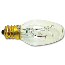 Picture of 7W CLEAR PANEL BULB CANDELABRA BASE