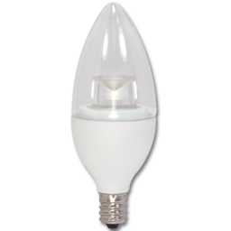 Picture of 4.5W CLEAR TORPEDO LED BULB - 3000K - CANDELABRA BASE