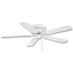 "Picture of 52"" HUGGER CEILING FAN, 5 BLADES - WHITE"