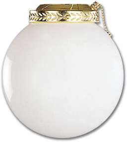 "Picture of 8"" ROUND OPAL GLOBE LIGHT KIT - POLISHED BRASS"
