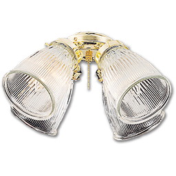 Picture of 4-LIGHT CLEAR RIBBED LIGHT KIT - POLISHED BRASS