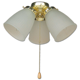 Picture of 3-LIGHT PRISMATIC KIT POLISHED BRASS WITH FROSTED GLASS