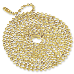 Picture of 5' BEADED PULL CHAIN - POLISHED BRASS