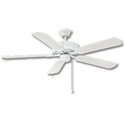 "Picture of 52"" DUAL MOUNT CEILING FAN, 5 BLADES - WHITE"