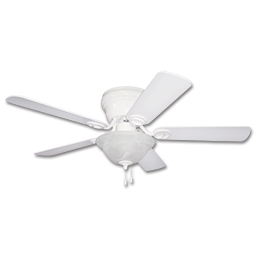 "Picture of 42"" 5 BLADE HUGGER CEILING FAN WITH LIGHT KIT - WHITE"
