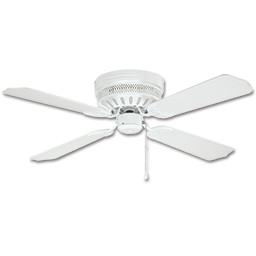 "Picture of 42"" HUGGER CELESTE CEILING FAN, 4 BLADES - WHITE"