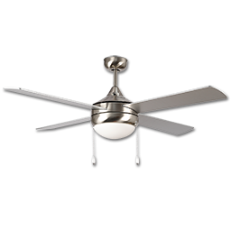 """Picture of 52"""" 4-BLADE STAINLESS STEEL CEILING FAN W/LED LIGHT KIT"""