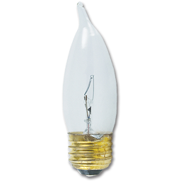 Picture of 40 WATT CLEAR FLAME TIP MEDIUM BASE BULB - 25/CS