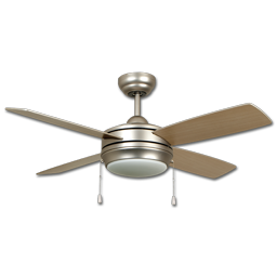 "Picture of LAVAL 52"" DUAL MOUNT CEILING FAN, HALOGEN LIGHTED - BRUSHED PEWTER"